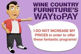 Wine Country Furniture Way to Pay